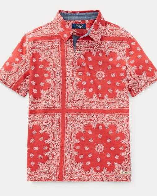 a0172ee10 Boys 8-20 Bandanna-Print Cotton Polo 1