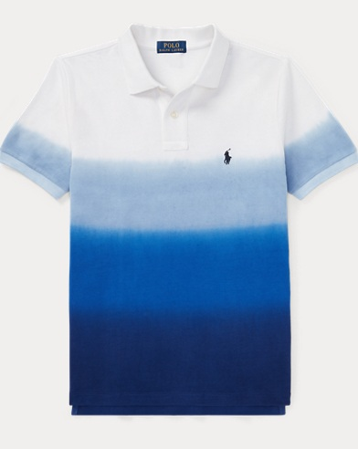 Dip-Dyed Cotton Mesh Polo