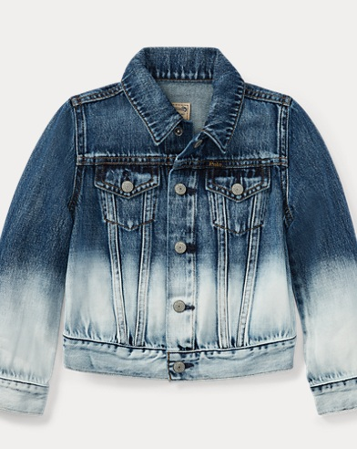 Ombré Denim Trucker Jacket
