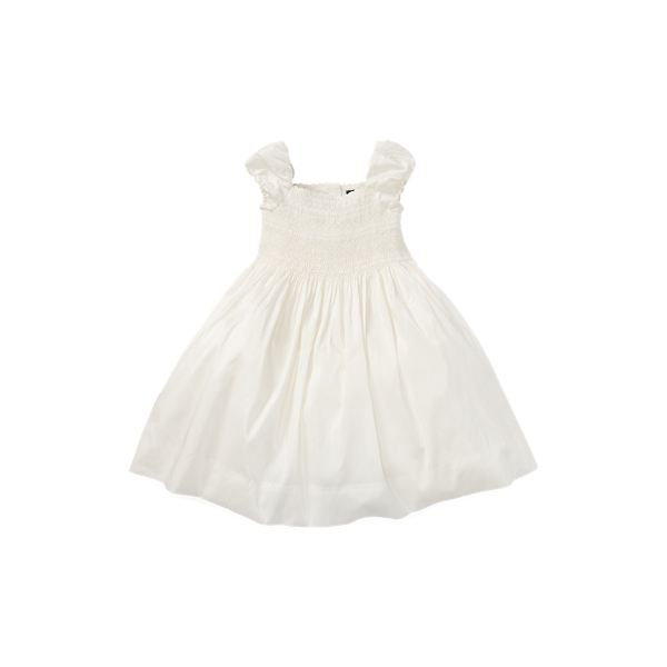폴로 랄프로렌 여아용 원피스 Polo Ralph Lauren Smocked Silk Dress,Cream