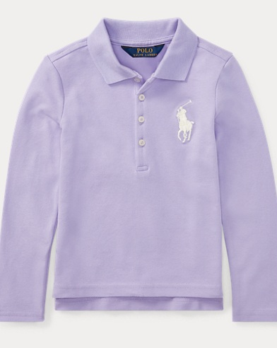 Stretch Mesh Long-Sleeve Polo