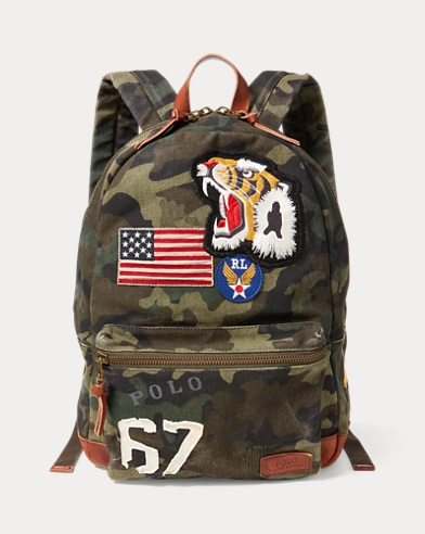 Patchwork Camo Canvas Backpack