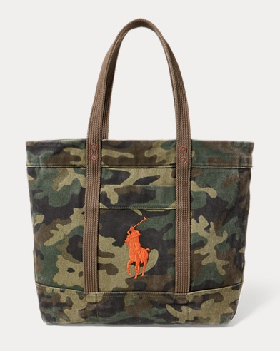 Camo Canvas Big Pony Tote