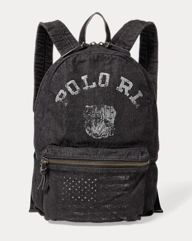 Bulldog Denim Backpack