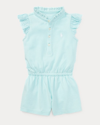 Cotton Flutter-Sleeve Romper