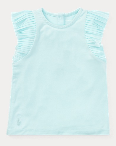 Flutter-Sleeve Jersey Top