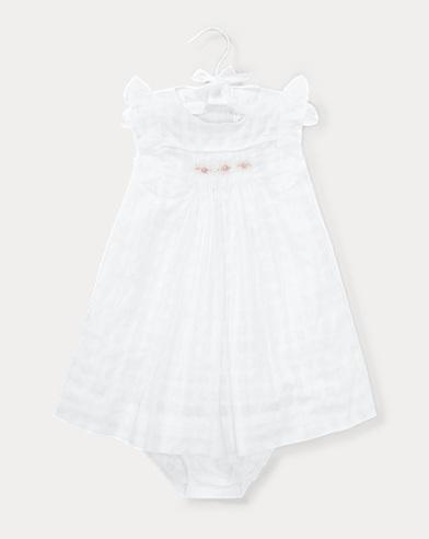 Windowpane Cotton Dress