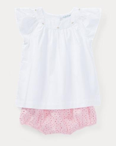 Cotton Top & Eyelet Short Set