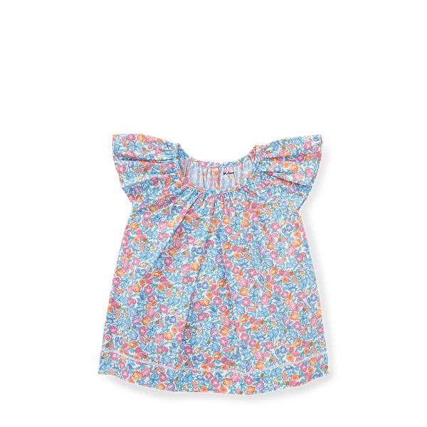 Ralph Lauren Floral Flutter-Sleeve Top Amelia Floral 6M