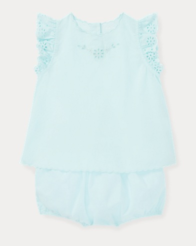 Eyelet Top & Bloomer Set