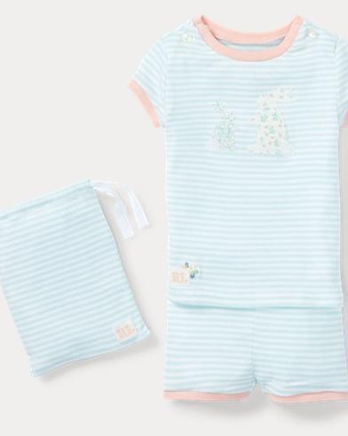 Bunny Cotton Pajama Short Set