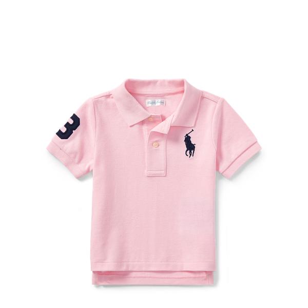 Ralph Lauren Cotton Mesh Polo Shirt Carmel Pink 3M