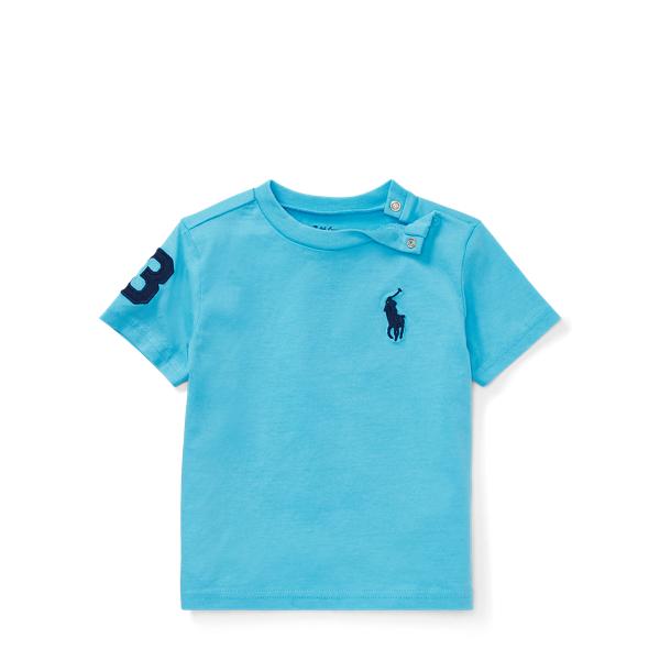 Ralph Lauren Cotton Jersey Crewneck T-Shirt Margie Blue 6M