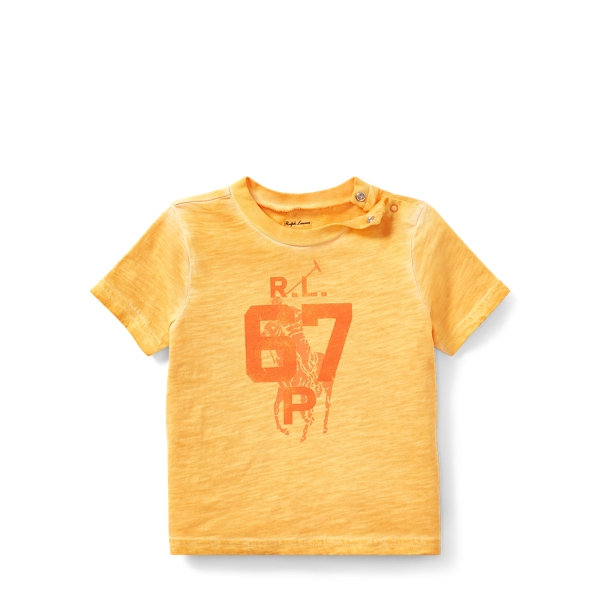 Ralph Lauren Cotton Jersey Graphic T-Shirt Thai Orange 3M