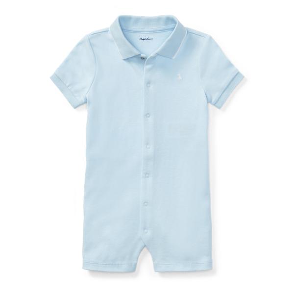 Ralph Lauren Cotton Interlock Polo Shortall Beryl Blue 6M
