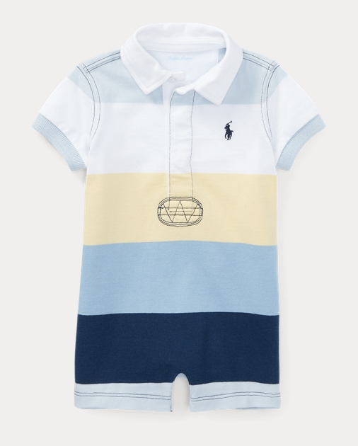 1e2194f10fdc Baby Boy Striped Cotton Rugby Shortall 1