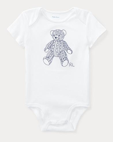 Bear Cotton Interlock Bodysuit