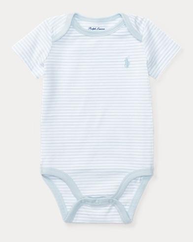 Striped Cotton Jersey Bodysuit