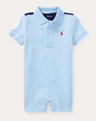 Cotton Mesh Polo Shortall