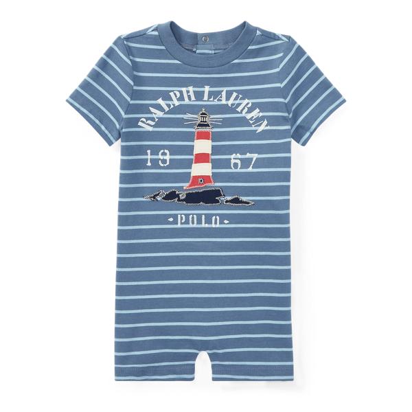 Ralph Lauren Cotton Jersey Graphic Shortall Capri Blue/Bluebell 3M