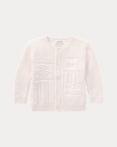 Contrast-knitted Cotton Cardigan