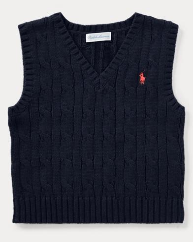 Cable-Knit Cotton Vest