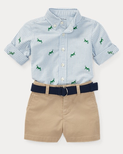 Oxford Shirt, Belt & Chino Set