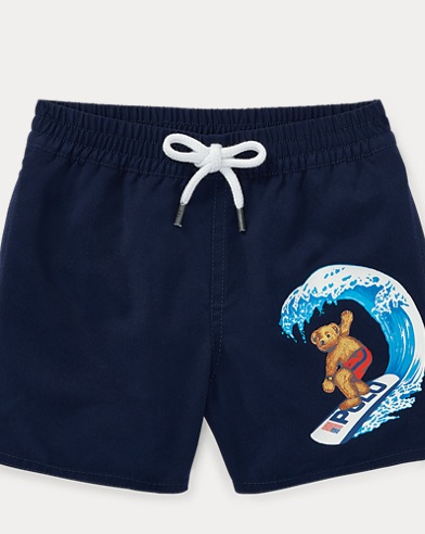 Surfer Bear Swim Trunk