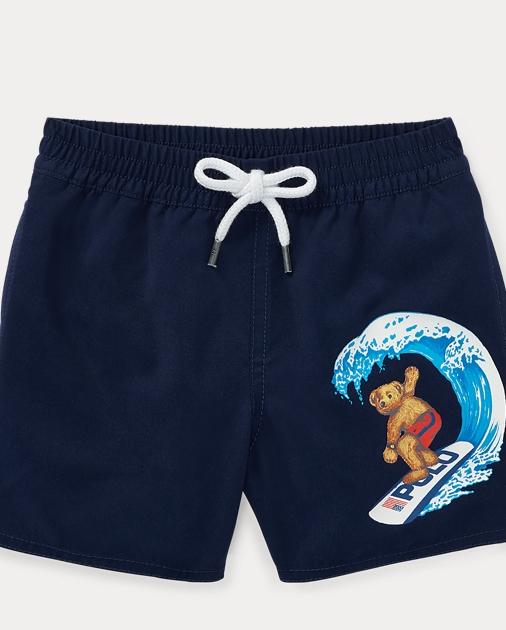 0532df0ae3 Baby Boy Surfer Bear Swim Trunk 1