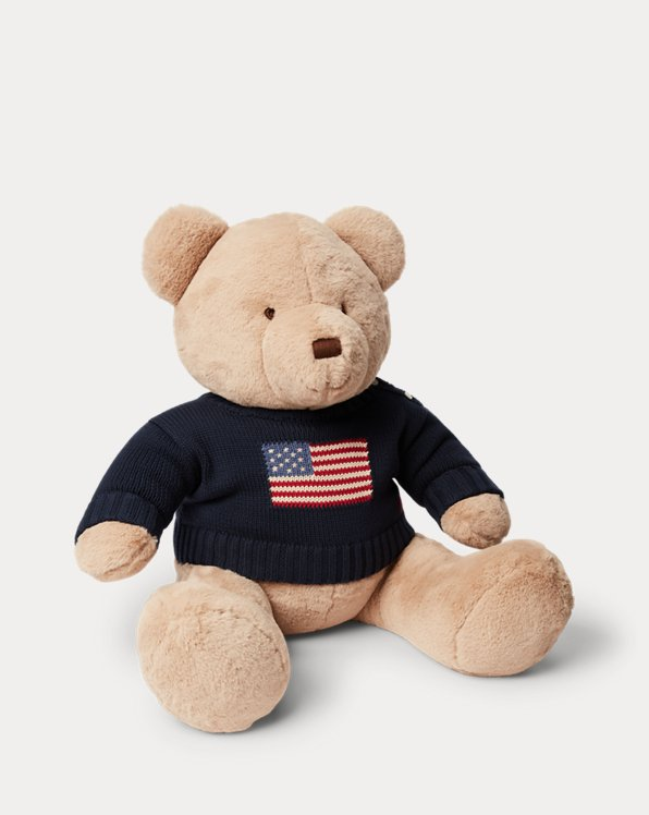 Large Flag-Jumper Polo Bear