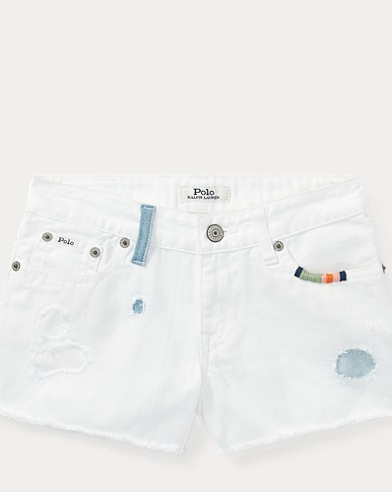 Distressed Denim Cutoff Short