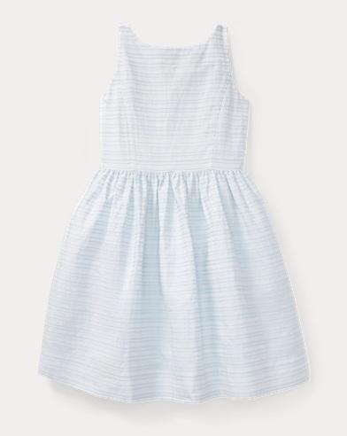 Ribbon Striped Cotton Dress