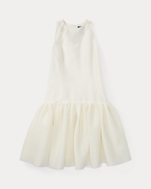 Embroidered Silk Tulle Dress