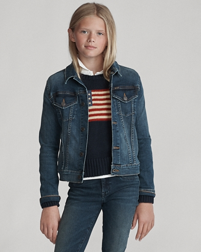 Girls' Denim Trucker Jacket