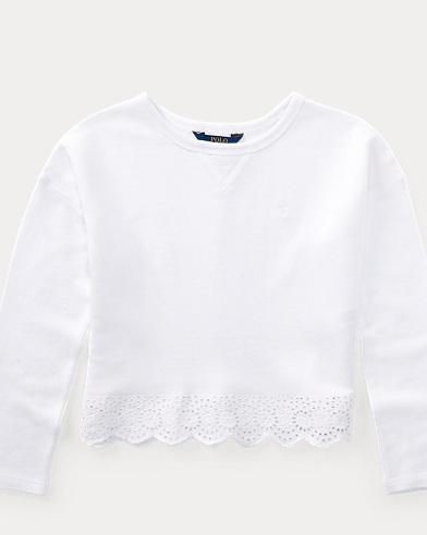 Eyelet French Terry Sweatshirt