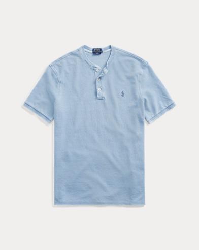 Maglietta serafino in piqué