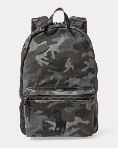 Camo Cotton Backpack