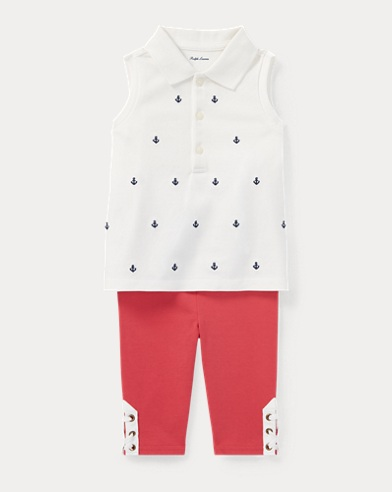Nautical Polo & Legging Set