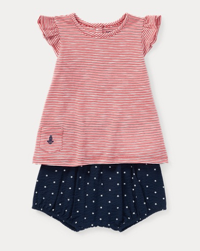 Striped Top & Bloomer Set