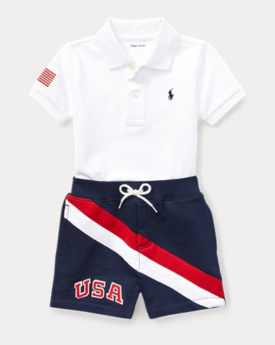 Cotton Polo & Short Set