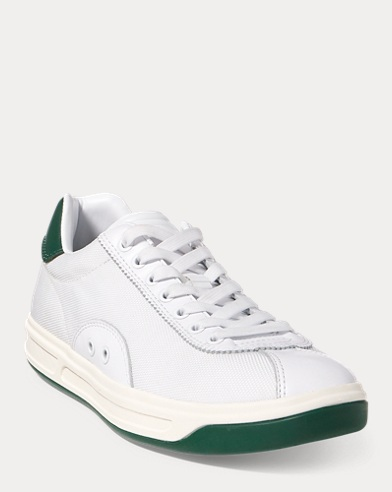 Court 100 Leather-Mesh Sneaker
