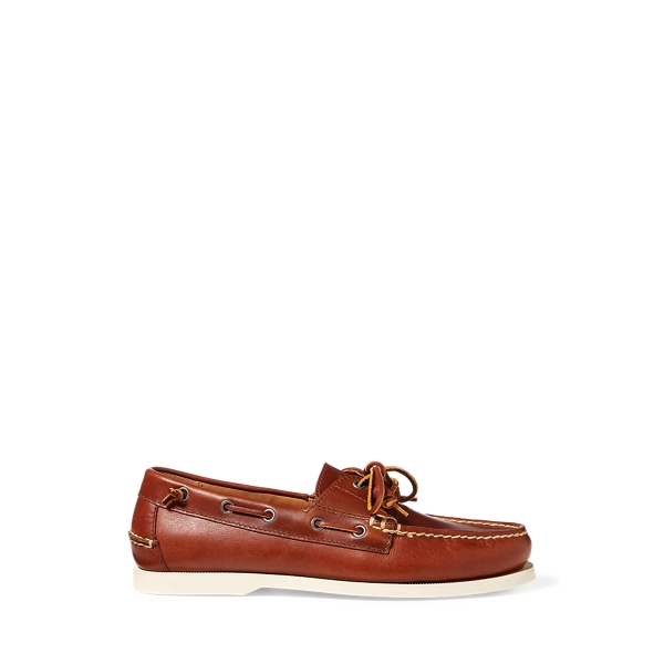폴로 랄프로렌 보트 슈즈 Polo Ralph Lauren Merton Leather Boat Shoe,Deep Saddle Tan