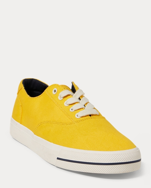 Ralph Lauren Cp-93 Canvas Low-Top Sneaker Deep Forest/Bright Signal 9 OyMNvJIHc1