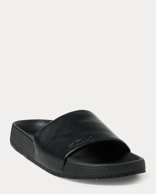 Ralph Lauren Cayson Pool Slide Sandal Black 13