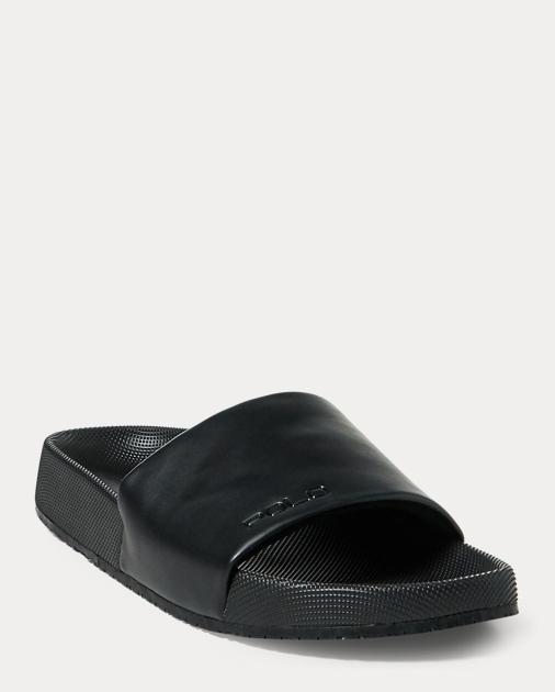 Ralph Lauren Cayson Pool Slide Sandal Black 13 iuuhB