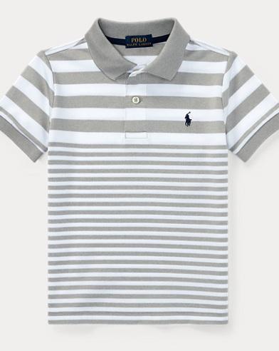 Striped Tech Mesh Polo Shirt