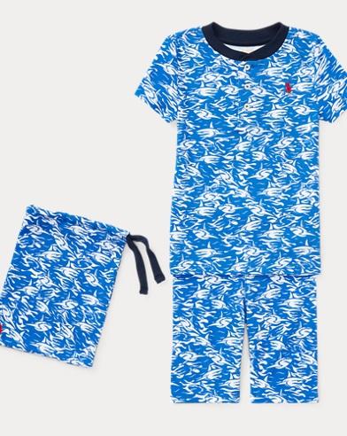 Shark Cotton Sleep Short Set