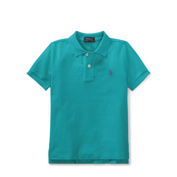 Ralph Lauren Cotton Mesh Polo Shirt Western Turquoise 2T