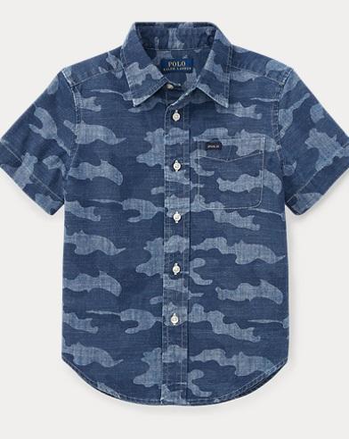 Camo Cotton Chambray Shirt