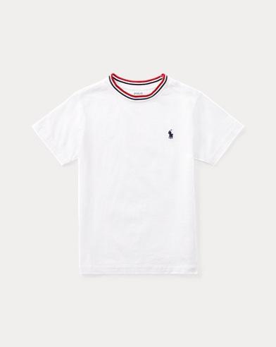 Ringer-T-Shirt aus Baumwolljersey